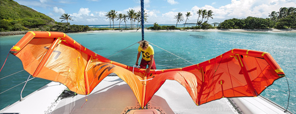 Caribbean Caramaran Kiteboarding Cruise