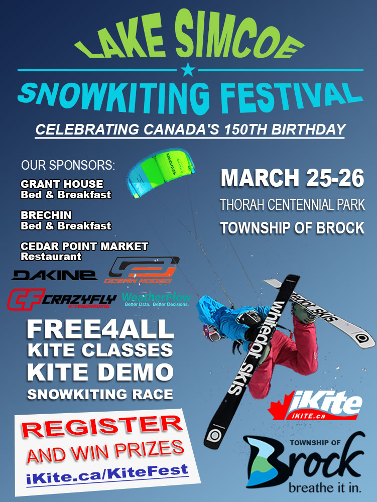 Lake Simcoe Snowkiting Festival